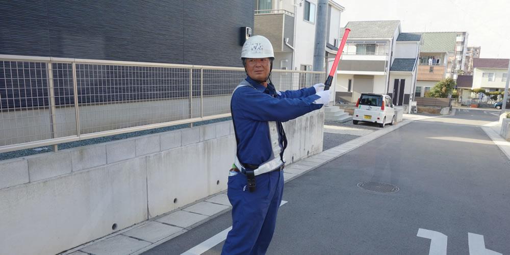 舗装補修工事における交通誘導